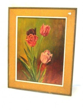 20: Floral Still Life Oil Painting by Edith M. Barton
