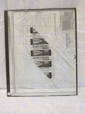 24: 1950's Black Cherry Drink Advertising Glass Printer