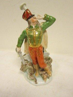 "132: Herend ""Slaying the Dragon"" Hungarian  Figurine"