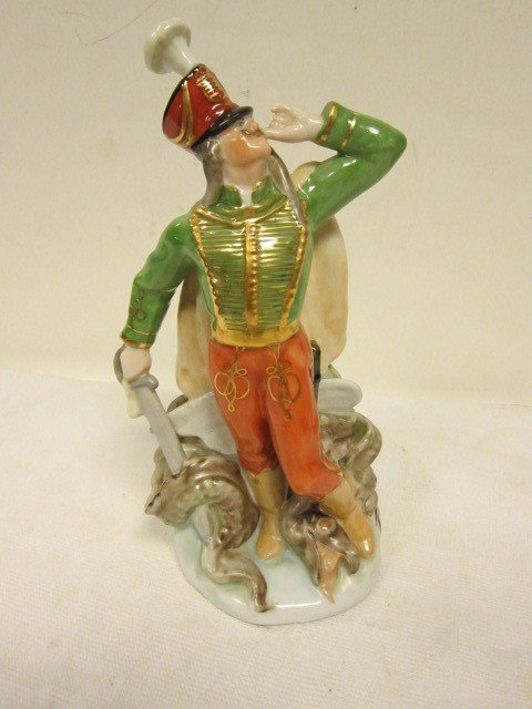 "132: Herend ""Slaying the Dragon"" Hungarian  Figurine"