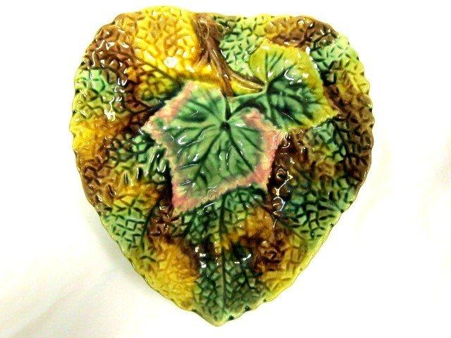 7: Majolica Heart Shaped Dish