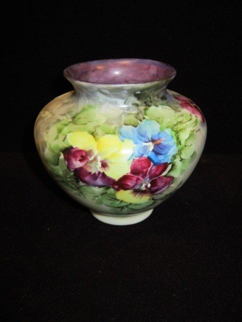 24: Ohio Floral Hand Painted Vase