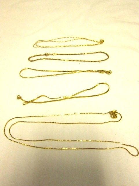 Group of 14kt Gold Bracelets and Necklaces