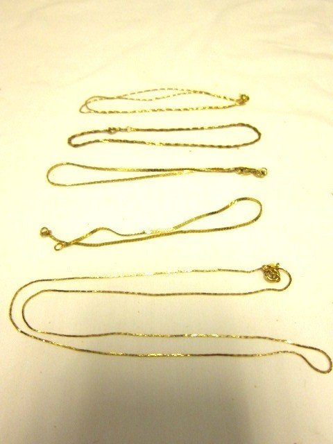 35: Group of 14kt Gold Bracelets and Necklaces