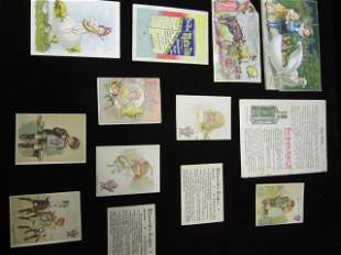 Trade card and card covers lot
