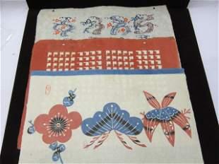 3 Japanese block prints