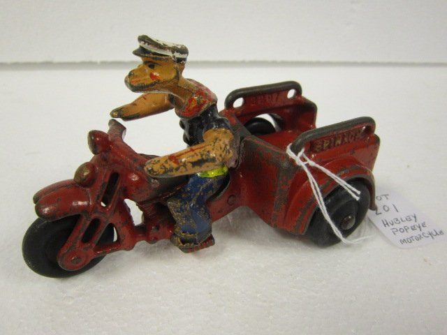 Hubley 1930's Popeye 3 wheel motorcycle