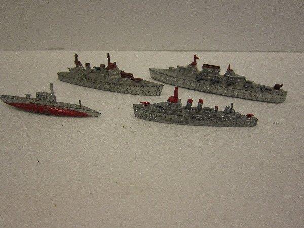 6: 4 Tootsietoy Ship Lot