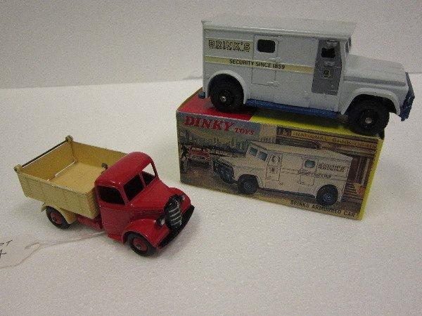 24: Dinky Bedford Dump and Brinks Car