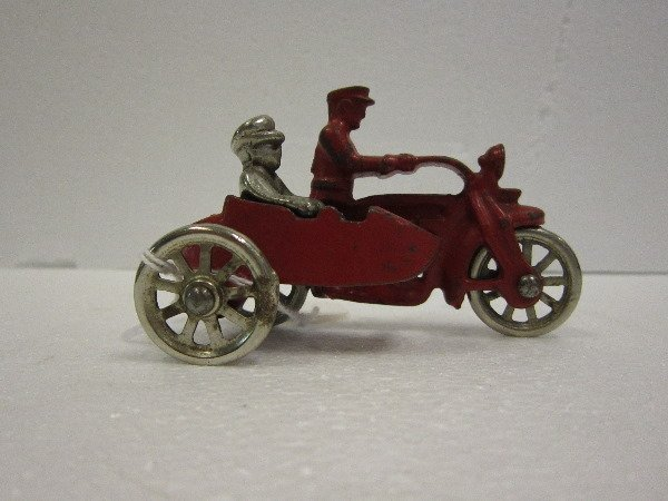65: Cast Iron Motorcycle and Sidecar