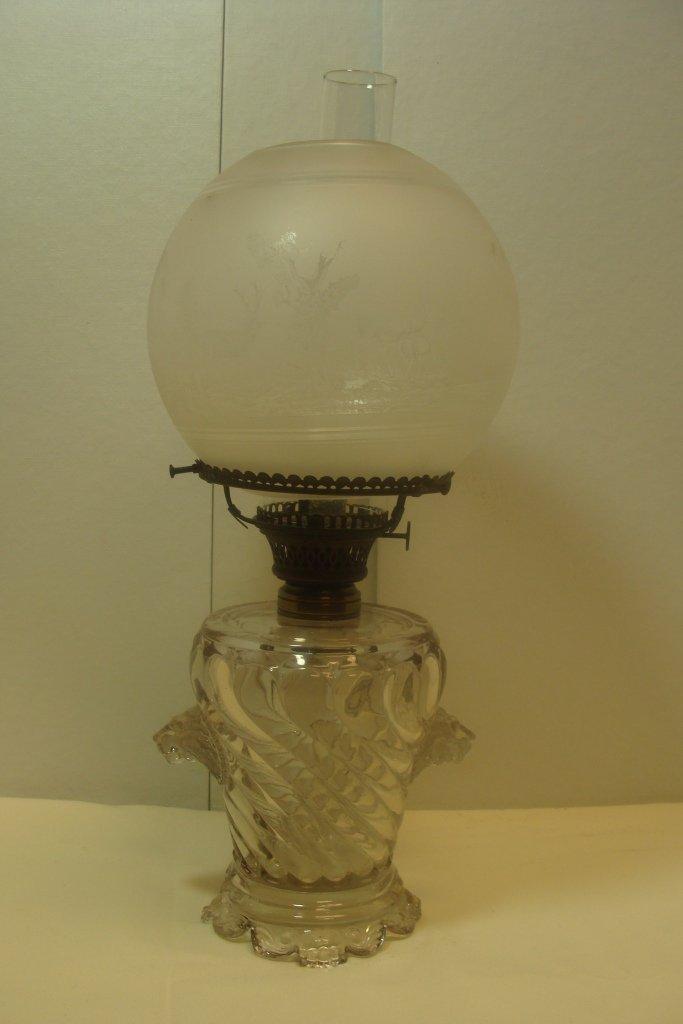 Rare Clear Glass Lamp Base