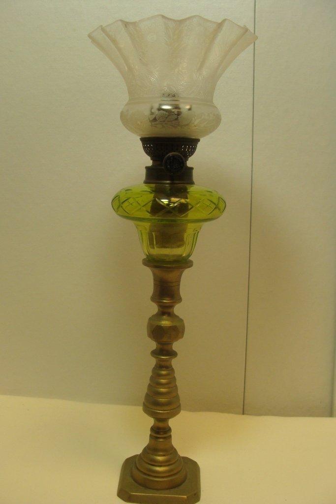 Brass & Clear Glass Kerosene Lamp