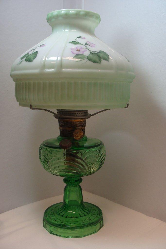 Aladdin Washington Drape Green Crystal Lamp