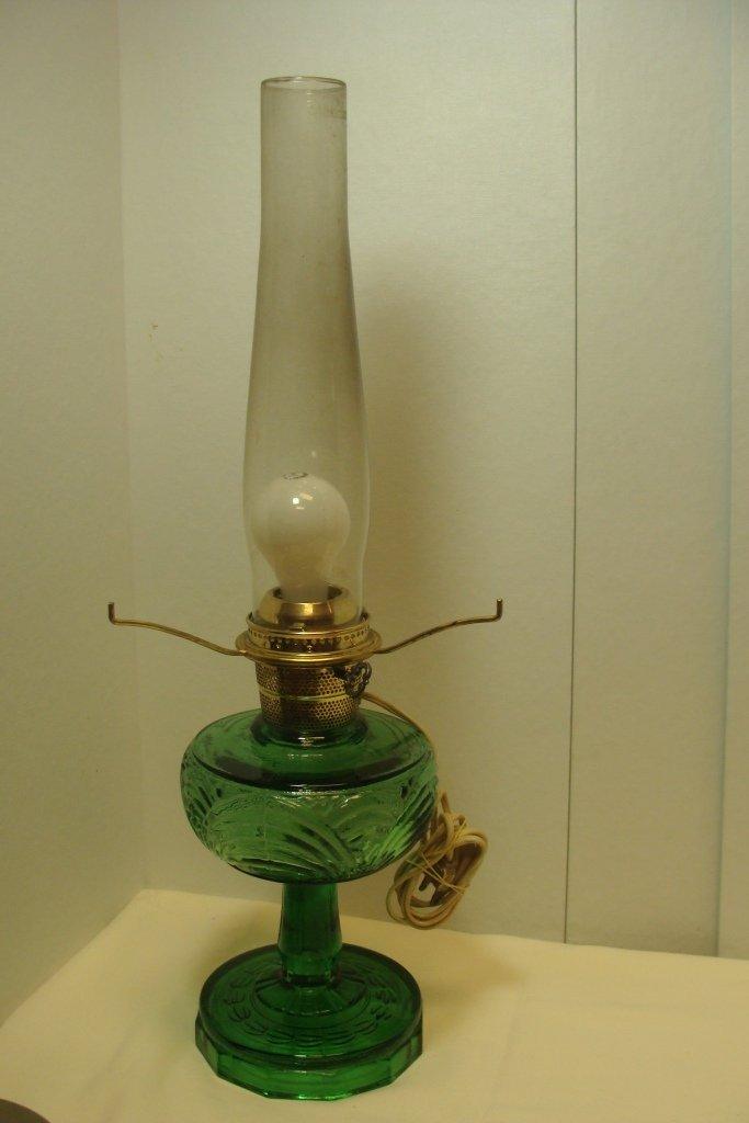 Aladdin Washington Drape Grn Crystal Lamp