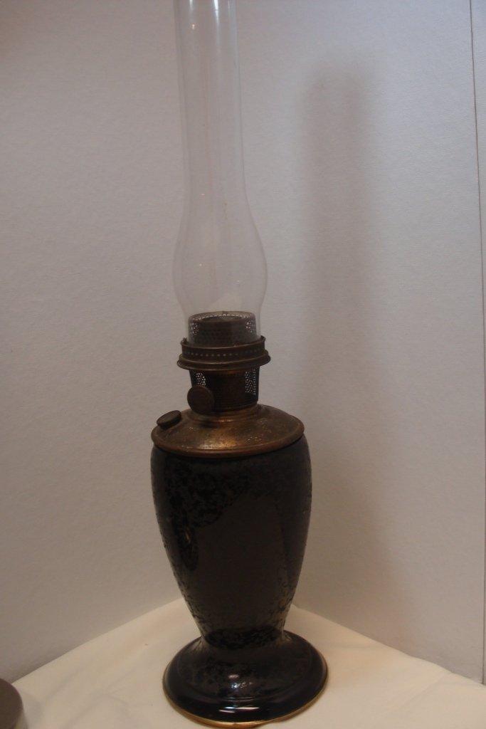 Aladdin Model 12 Black Vase Lamp