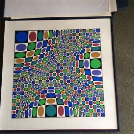Victor Vasarely (French/Hungarian 1906-1997) LTD. ED.