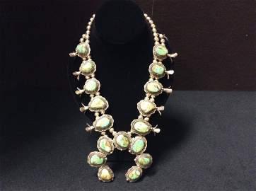 Classic Turquoise Squash Necklace
