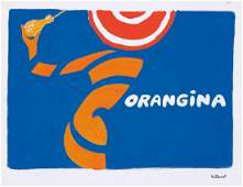 Orangina Orange Peel  Bottle  Maquette 1967