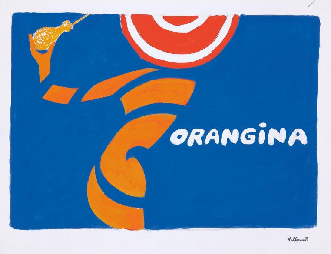 Orangina Orange Peel / Bottle : Maquette. 1967.