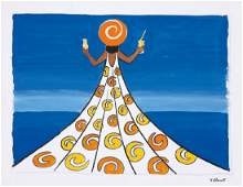 Orangina  Sundress  Maquette ca 1967