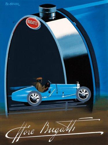 16: Ettore Bugatti: Poster and Maquette.