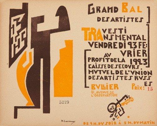 8: Grand Bal Travesti Trasmental. 1923