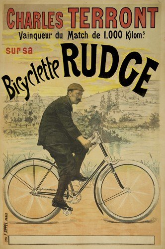 1: Charles Terront / Bicyclette Rudge. ca. 1891