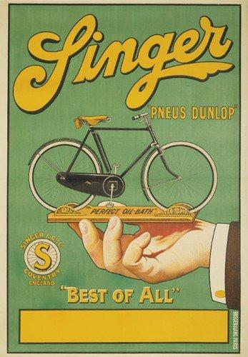 "8: Singer ""Pneus Dunlop.""."