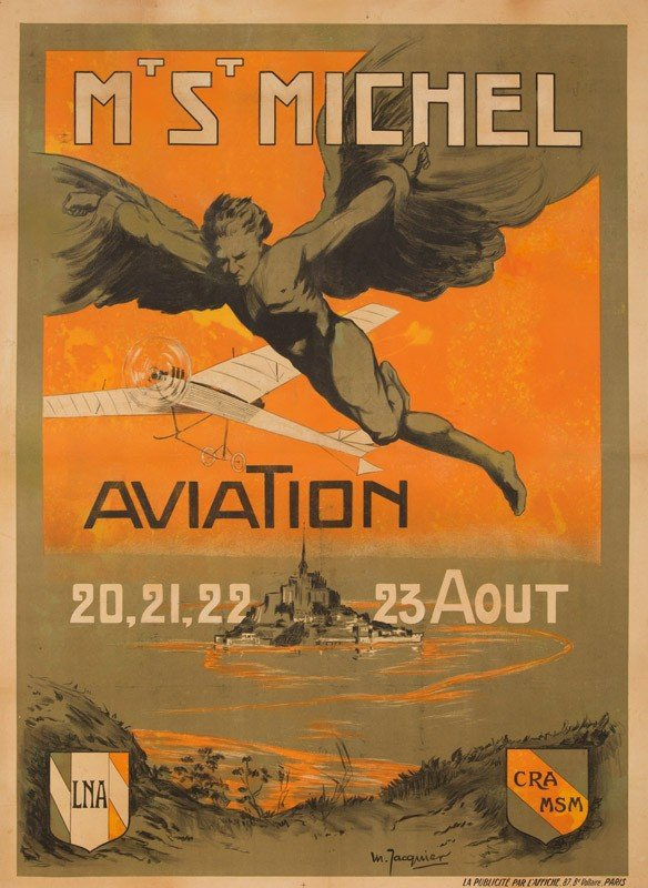 11: Mt. St. Michel / Aviation. ca. 1911