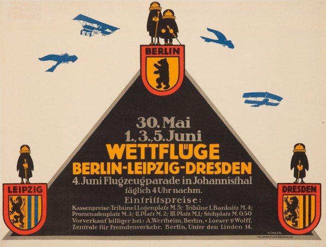 13: Wettflüge Berlin-Leipzig-Dresden. ca. 1911