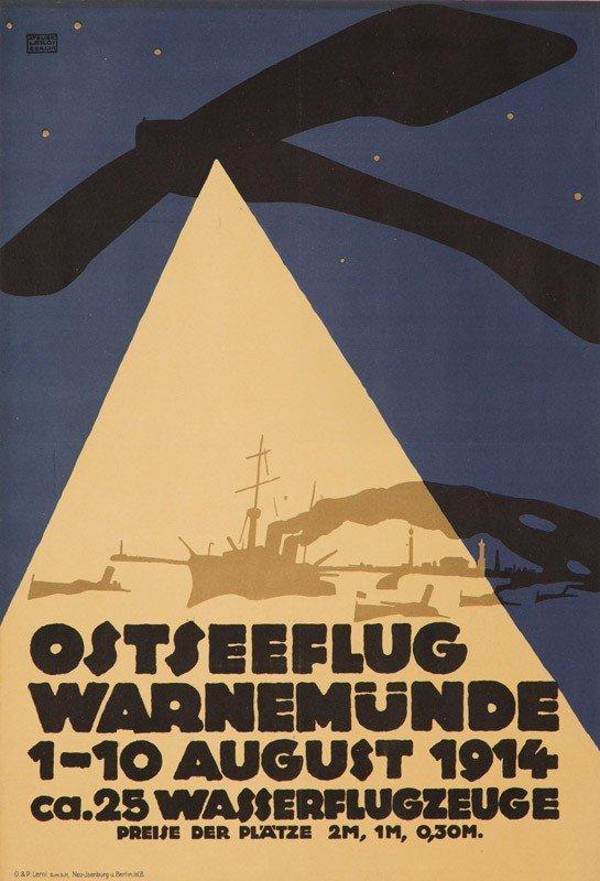 20: Ostseeflug Warnemünde. 1914