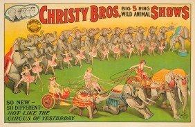 Christy Bros. / Wild Animal Shows. 1925