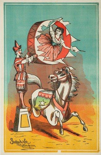 183: Clown & Pony Stock Poster. ca. 1885