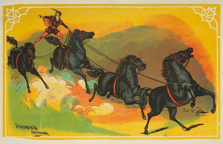 184: Devil on Horseback Stock Poster. ca. 1885
