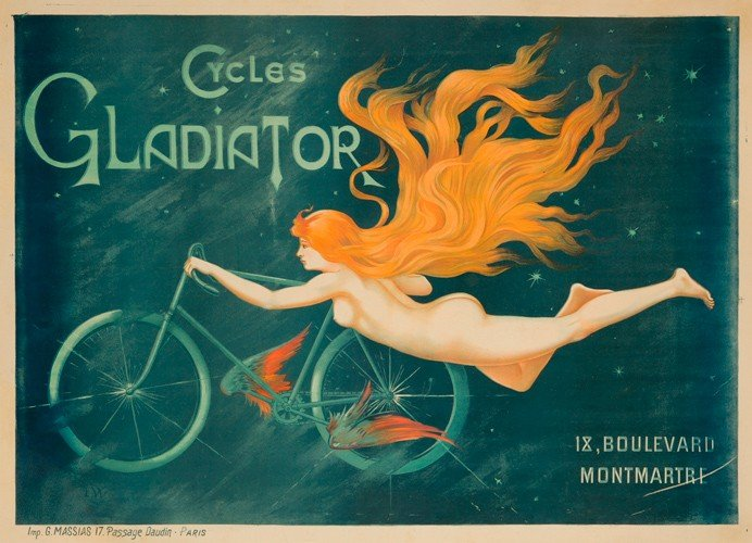 1: Cycles Gladiator. ca. 1895