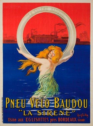 24: Pneu Velo Baudou.  ca. 1910