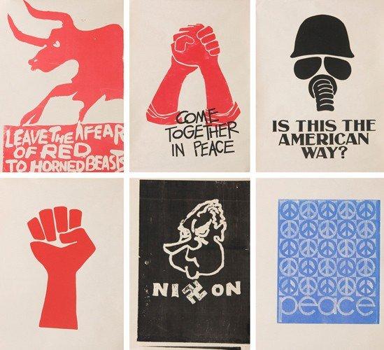 2: Six Anti-Vietnam Silkscreens. 1968