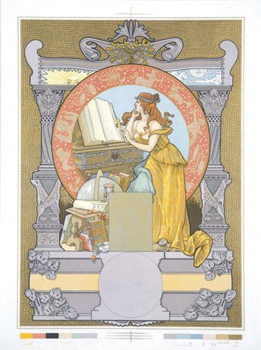 9: Literary Muse. ca. 1900