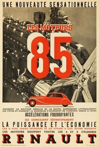 23: Renault / Les Moteurs 85. ca. 1931