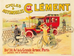 Cycles & Automobiles Cl�ment. Ca. 1902