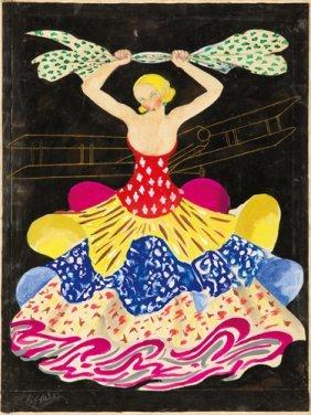 Teintures: Maquette. Ca. 1924