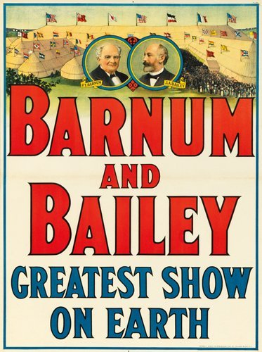 1: Barnum and Bailey / Greatest Show on Earth. 1915