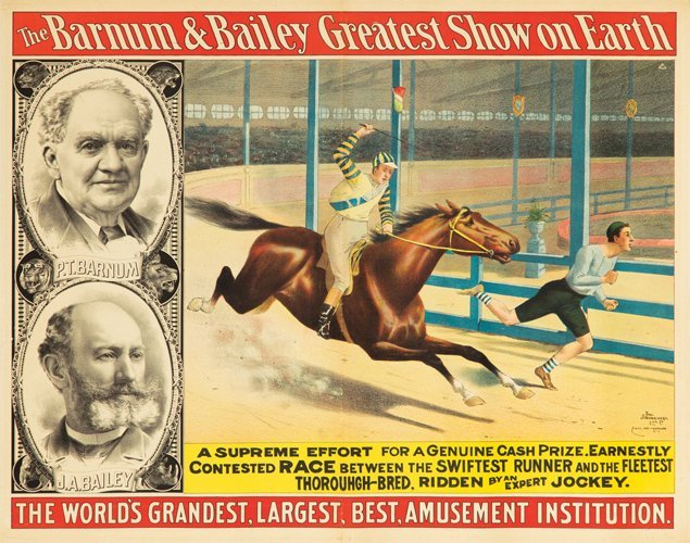 9: Barnum & Bailey / Swiftest Runner. ca. 1892
