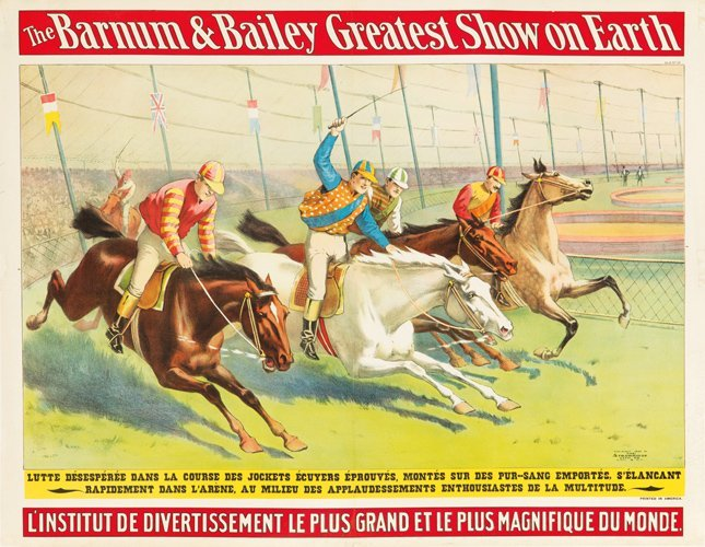 16: Barnum & Bailey / La Course des Jockets.  1898