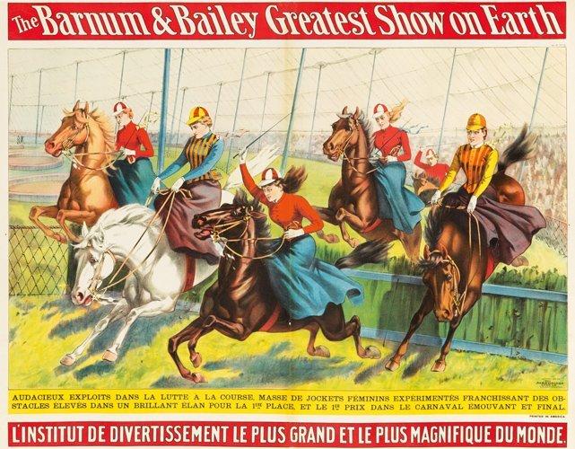17: Barnum & Bailey / Jockets Féminins. 1898