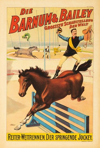19: Barnum & Bailey / Der Springende Jockey. 1900