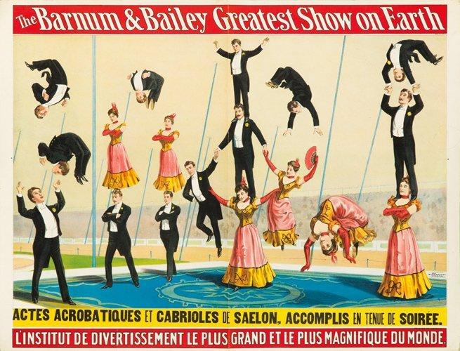 22: Barnum & Bailey / Actes Acrobatiques. 1900