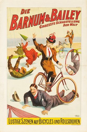 23: Barnum & Bailey / Lustige Szenen auf Bicycles. 1900