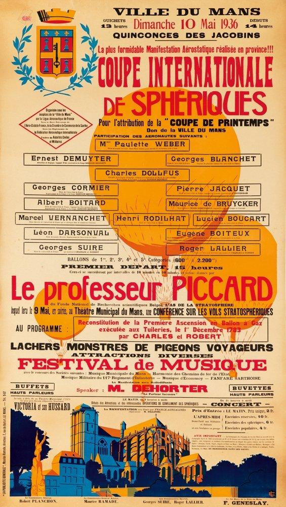 16: Coupe Internationale de Sphériques. 1936