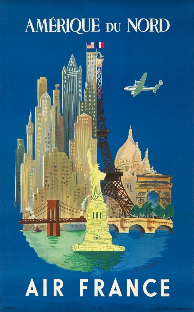18: Air France / Amerique du Nord. 1948